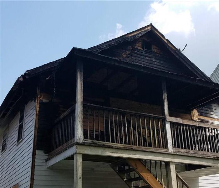 Before shot fire damage restoration