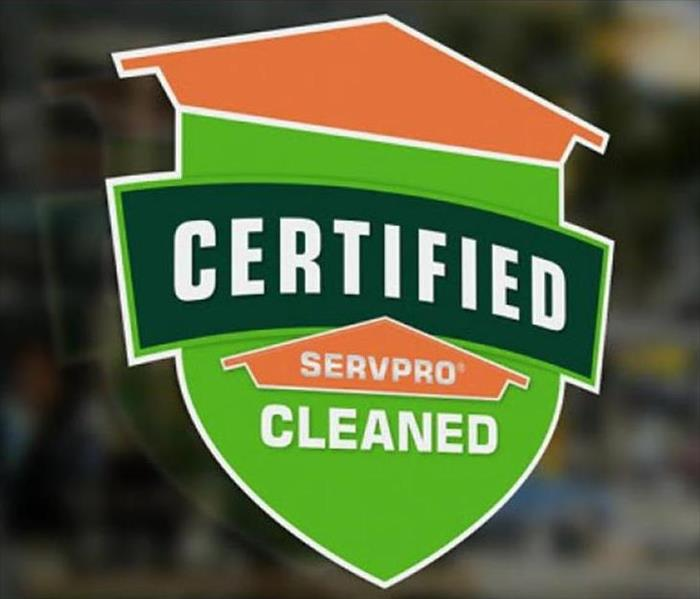 SERVPRO shield on the door of a business