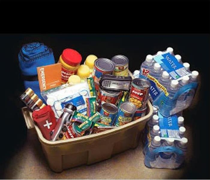 A supply of non-perishable food items