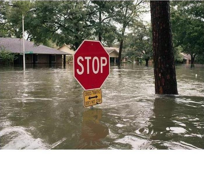 Stop Sign Flooded